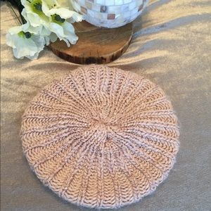 Chatties Pink beret style knit hat